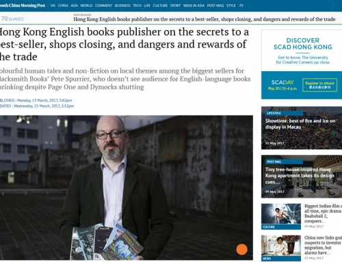 Blacksmith Books publisher interviewed in the SCMP