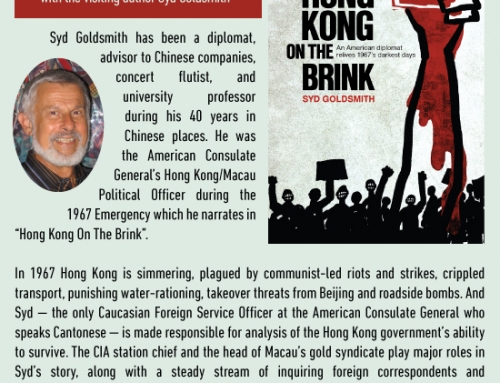 "June 1: Syd Goldsmith launches his 1967 riots memoir ""Hong Kong on the Brink"""