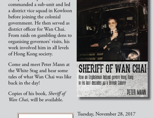 Book signing with the Sheriff of Wan Chai, November 28