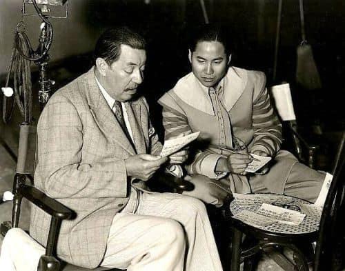 Warner Oland and Keye Luke in 1936